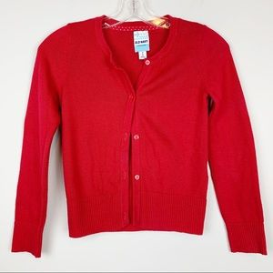 ❤️ Red Cardigan Sweater, Medium